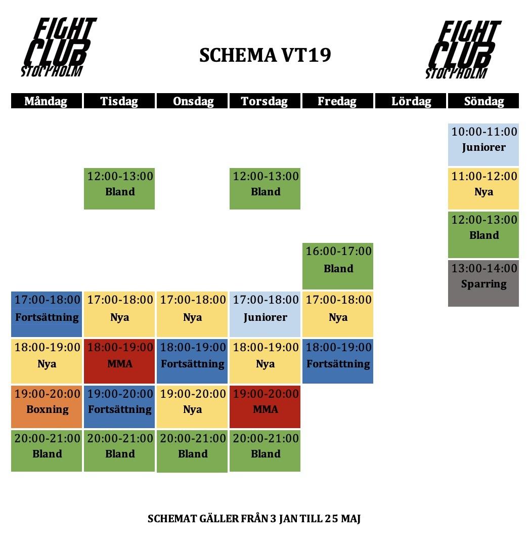 stockholm kickboxning schema